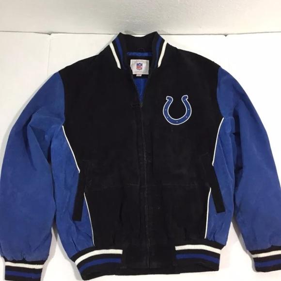 best loved cab8b f49ff Vintage NFL Indianapolis Colts Leather Jacket M